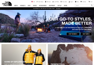 The North Face shop screen shot
