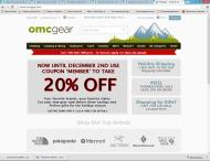 omcgear.com shop screen shot