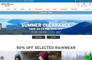 Eddie Bauer shop screen shot