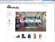 capsuleboardshop.com shop screen shot