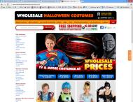 wholesalehalloweencostumes.com shop screen shot