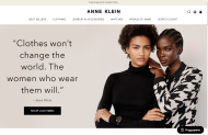 AnneKlein shop screen shot