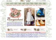 tinysoles.com shop screen shot