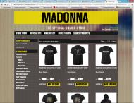 madonna.store2.livenation.com shop screen shot