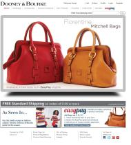 Dooney & Bourke shop screen shot