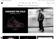 DCShoes shop screen shot