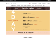 Ann Taylor shop screen shot