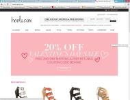 heels.com shop screen shot