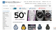 Authentic Watches shop screen shot