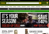 Cabelas shop screen shot