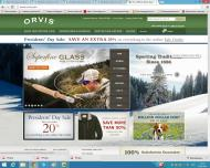 orvis.com shop screen shot