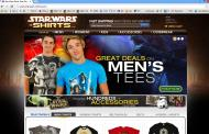 starwars-shirts.com shop screen shot
